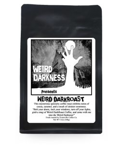 Display bag of Weird Dark Roast Coffee